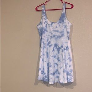 Blue Tie Dye Dress